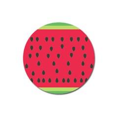 Watermelon Fan Red Green Fruit Magnet 3  (round) by Alisyart
