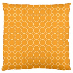Yellow Circles Large Cushion Case (two Sides) by Alisyart