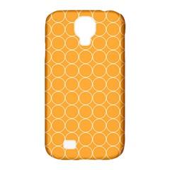 Yellow Circles Samsung Galaxy S4 Classic Hardshell Case (pc+silicone) by Alisyart