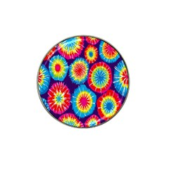 Tie Dye Circle Round Color Rainbow Red Purple Yellow Blue Pink Orange Hat Clip Ball Marker (10 Pack) by Alisyart