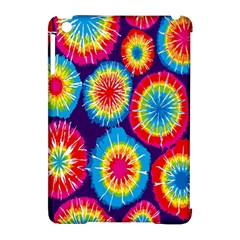 Tie Dye Circle Round Color Rainbow Red Purple Yellow Blue Pink Orange Apple Ipad Mini Hardshell Case (compatible With Smart Cover) by Alisyart