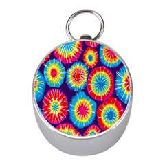 Tie Dye Circle Round Color Rainbow Red Purple Yellow Blue Pink Orange Mini Silver Compasses by Alisyart