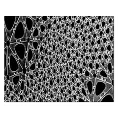 X Ray Rendering Hinges Structure Kinematics Circle Star Black Grey Rectangular Jigsaw Puzzl by Alisyart