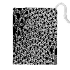 X Ray Rendering Hinges Structure Kinematics Circle Star Black Grey Drawstring Pouches (xxl) by Alisyart