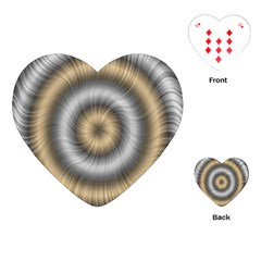 Prismatic Waves Gold Silver Playing Cards (heart)  by Alisyart