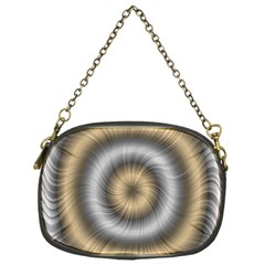 Prismatic Waves Gold Silver Chain Purses (one Side)  by Alisyart