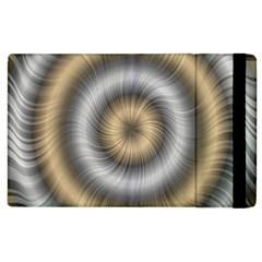 Prismatic Waves Gold Silver Apple Ipad 3/4 Flip Case by Alisyart
