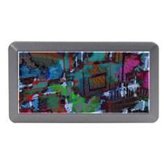 Dark Watercolor On Partial Image Of San Francisco City Mural Usa Memory Card Reader (mini) by Simbadda
