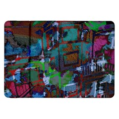 Dark Watercolor On Partial Image Of San Francisco City Mural Usa Samsung Galaxy Tab 8 9  P7300 Flip Case by Simbadda