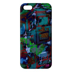 Dark Watercolor On Partial Image Of San Francisco City Mural Usa Iphone 5s/ Se Premium Hardshell Case by Simbadda
