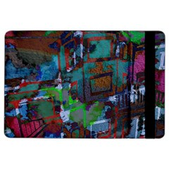 Dark Watercolor On Partial Image Of San Francisco City Mural Usa Ipad Air 2 Flip