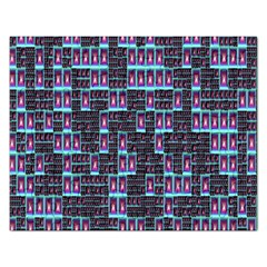 Techno Fractal Wallpaper Rectangular Jigsaw Puzzl by Simbadda