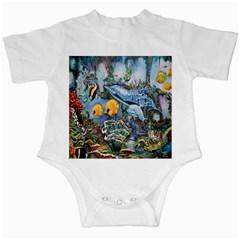 Colorful Aquatic Life Wall Mural Infant Creepers