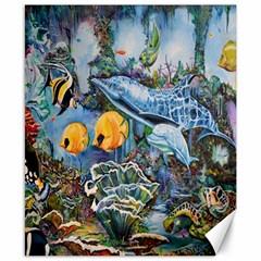 Colorful Aquatic Life Wall Mural Canvas 8  X 10  by Simbadda