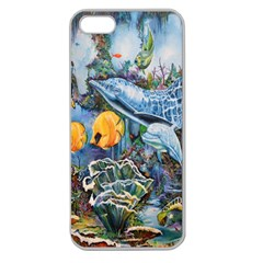 Colorful Aquatic Life Wall Mural Apple Seamless Iphone 5 Case (clear) by Simbadda