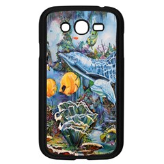 Colorful Aquatic Life Wall Mural Samsung Galaxy Grand Duos I9082 Case (black) by Simbadda