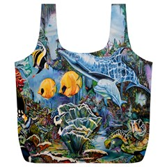 Colorful Aquatic Life Wall Mural Full Print Recycle Bags (l)  by Simbadda