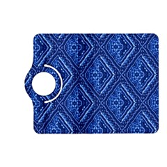 Blue Fractal Background Kindle Fire Hd (2013) Flip 360 Case by Simbadda