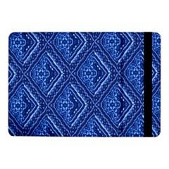 Blue Fractal Background Samsung Galaxy Tab Pro 10 1  Flip Case by Simbadda