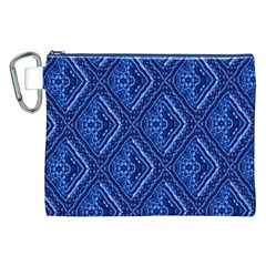 Blue Fractal Background Canvas Cosmetic Bag (xxl) by Simbadda