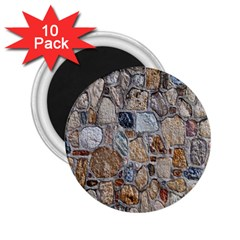 Multi Color Stones Wall Texture 2 25  Magnets (10 Pack)  by Simbadda