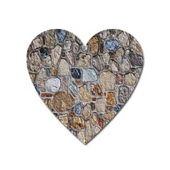 Multi Color Stones Wall Texture Heart Magnet by Simbadda