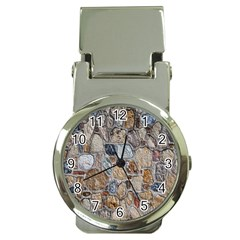 Multi Color Stones Wall Texture Money Clip Watches by Simbadda