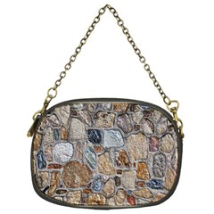 Multi Color Stones Wall Texture Chain Purses (one Side)  by Simbadda