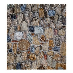 Multi Color Stones Wall Texture Shower Curtain 66  X 72  (large)  by Simbadda