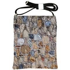 Multi Color Stones Wall Texture Shoulder Sling Bags by Simbadda