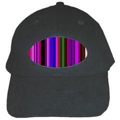 Fun Striped Background Design Pattern Black Cap by Simbadda