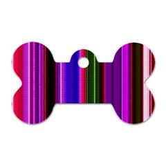 Fun Striped Background Design Pattern Dog Tag Bone (two Sides) by Simbadda