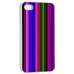 Fun Striped Background Design Pattern Apple Iphone 4/4s Seamless Case (white) by Simbadda