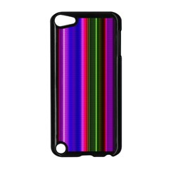 Fun Striped Background Design Pattern Apple Ipod Touch 5 Case (black) by Simbadda