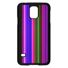 Fun Striped Background Design Pattern Samsung Galaxy S5 Case (black) by Simbadda