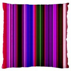 Fun Striped Background Design Pattern Large Flano Cushion Case (two Sides) by Simbadda