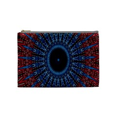 Digital Circle Ornament Computer Graphic Cosmetic Bag (medium)  by Simbadda
