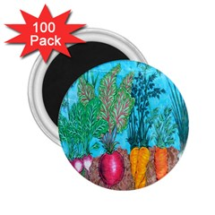 Mural Displaying Array Of Garden Vegetables 2 25  Magnets (100 Pack)  by Simbadda