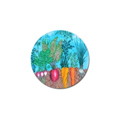 Mural Displaying Array Of Garden Vegetables Golf Ball Marker (10 Pack) by Simbadda