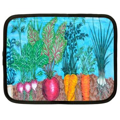 Mural Displaying Array Of Garden Vegetables Netbook Case (xxl)  by Simbadda