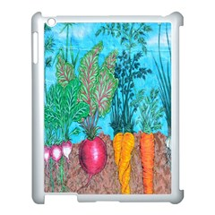 Mural Displaying Array Of Garden Vegetables Apple Ipad 3/4 Case (white) by Simbadda