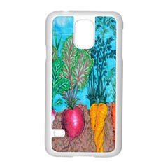 Mural Displaying Array Of Garden Vegetables Samsung Galaxy S5 Case (white) by Simbadda
