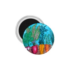 Mural Displaying Array Of Garden Vegetables 1.75  Magnets by Simbadda