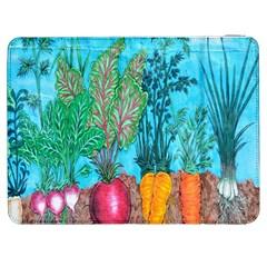 Mural Displaying Array Of Garden Vegetables Samsung Galaxy Tab 7  P1000 Flip Case by Simbadda