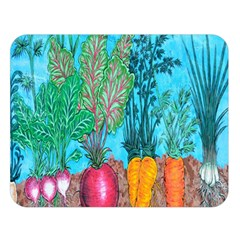 Mural Displaying Array Of Garden Vegetables Double Sided Flano Blanket (Large)