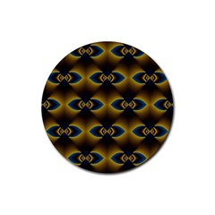 Fractal Multicolored Background Rubber Round Coaster (4 Pack)  by Simbadda