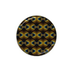 Fractal Multicolored Background Hat Clip Ball Marker (4 Pack) by Simbadda