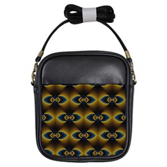 Fractal Multicolored Background Girls Sling Bags by Simbadda