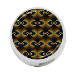 Fractal Multicolored Background 4 Port Usb Hub (two Sides)  by Simbadda