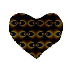 Fractal Multicolored Background Standard 16  Premium Flano Heart Shape Cushions by Simbadda